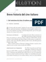 Breve Historia Del Cine Italiano - Mario Verdone