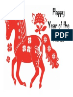 Happy Year of the Horse Poster