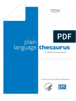 Plain Language Thesaurus for Health Communications