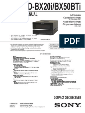 Sony Hcd-bx20i,Bx50ti Sm   I Pod   Soldering