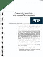 Formulacion Farmaceutica de Productos Fitoterapeuticos
