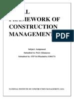 Legal Framework Assignment