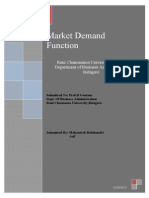 Market Demand Function