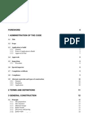 Trinidad Tobago Small Building Code Draft Framing