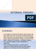 Internal Finishes