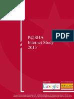 P@SHA Internet Study 2013