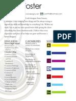 Ryan Foster graphic design resume