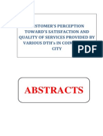 PROPOSAL - CUSTOMER'S PERCEPTION TOWARD'S SATISFACTION AND QUALITY OF SERVICES PROVIDED BY VARIOUS DTH