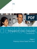 ERH PreparingAVentureCapitalTermSheet ELSCDeskbook