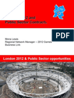 London 2012 and Public Sector Contracts