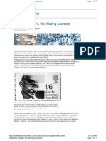 Mahatma Gandhi, The Missing Laureate
