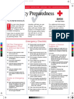 RedCross Emergency Prepardeness Checklist