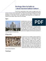 Top 5 World Heritage Sites in India to Explore More About Ancient Indian Culture