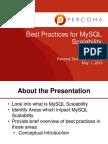 Best Practices for MySQL Scalability Slides
