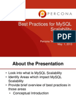 Best Practices for MySQL Scalability Slides