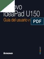Lenovo IdeaPad U150 UserGuide V1.0 (Spanish)