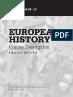 AP European History Course Description