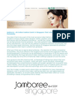 Jamboree – An Indian Fashion Event In Singapore That Is Known For Its Exclusivity