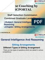 SSC CGL Reasoning Sitting Arrangements