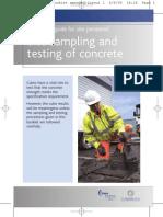 Site Sampling Testing Concrete