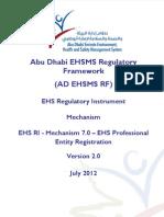 4) 7.0 - AD EHS Professional Entity Registration Mechanism v5 31 May 2012