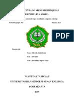 makalah hadits tentang rizqi dan bersosial