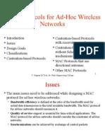 MAC Protocols for Ad-Hoc Wireless Networks