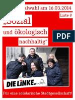 DIE LINKE. Regensburg - Flyer zur Kommunalwahl 2014