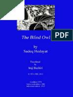 Sadeq Hedayat, Blind Owl