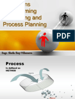 Operations Programming, Scheduling and Process Planning