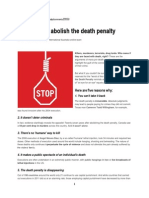 5 Reasons to Abolish the Death Penalty
