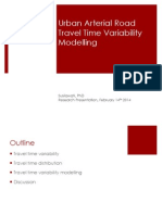 Urban Arterial Travel Time Variability