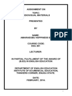 The Importance of Audiovisual Materials and Educational Technolog1