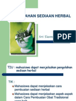 Pengolahan Sediaan Herbal.2012