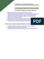 Guide Utilisation Admission Ligne Franc Es