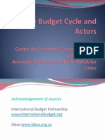 ii budget cycle and actors 100309hpl