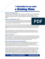 pH in drinking water