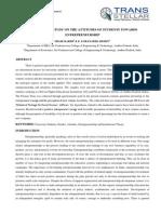 AN EMPIRICAL STUDY ON THE ATTITUDES OF STUDENTS TOWARDS ENTREPRENEURSHIP