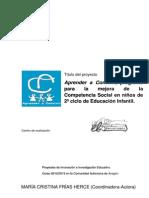 Aprender a Convivir, Programa para la mejora de competencias social en niños de segundo ciclo de educacion infantil