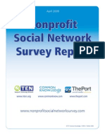 Nonprofit Social Network Survey Report