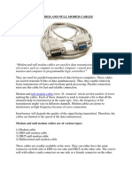 Modem and Null Modem Cables