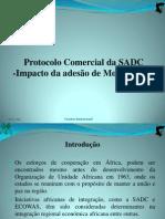 CI - Adesão de Moçambique no protocolo comercial da SADC =Impacto