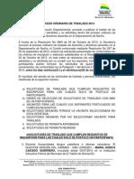 Solicitudes Proceso Ordinario de Traslado 2013