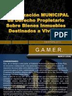 Programa Municipal Regularizacion Derecho Propietario 2013