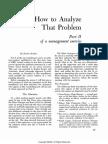 How to Analyze That Problem