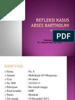 Refleksi Kasus bartolinitis