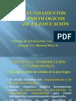 FUNDAMENTOS PSICOLOGICOS - Presentaciones 2011