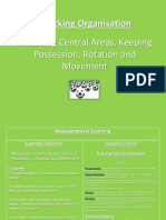 attacking play in central areas interchanging positions and rotation of movement