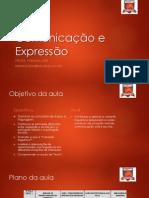 Comunicação e Expressão - aula 1