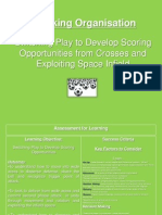 switching play to developing scoring opps from crosses and exploiting space infield update